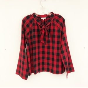 Madewell Tie Neck Popover Shirt (A4)